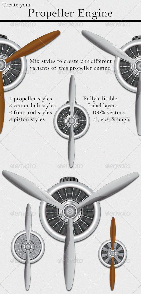 Propeller Engine Com Imagens Aviacao Tatoo Poster