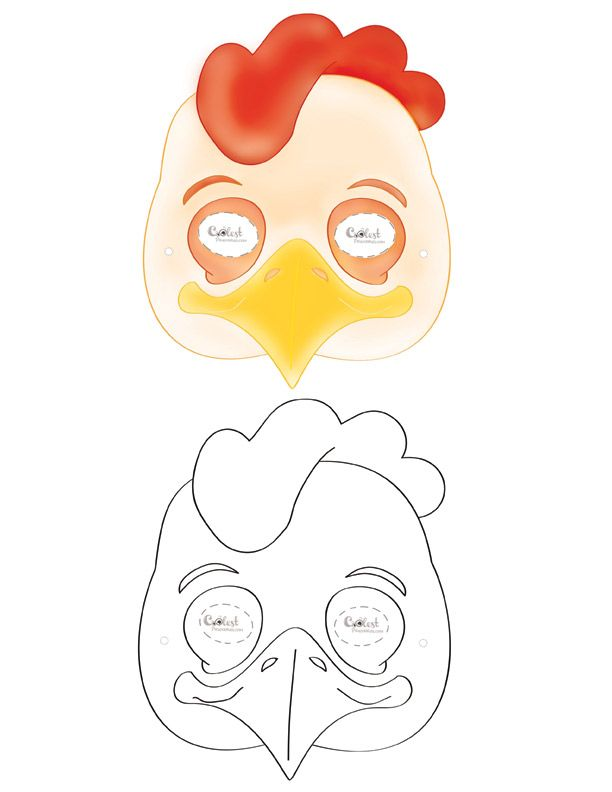 Printable Chicken Mask   Coolest Free Printables   masks