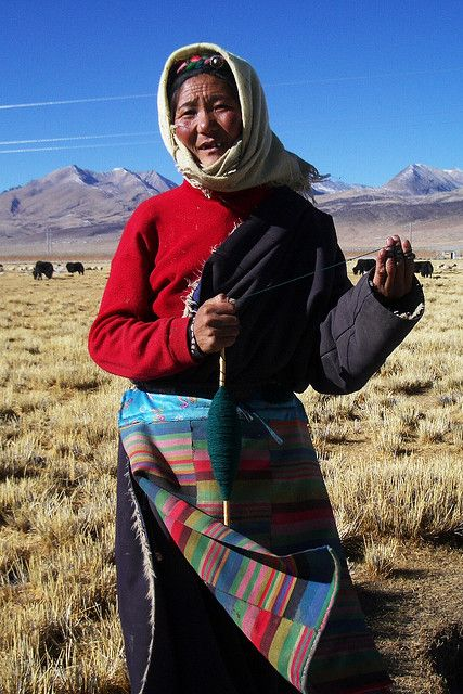 Woman Of Tibet China Tibet Nepal People European Dress