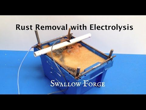 ▷ How to make a Rust Removal Electrolysis Tank  Swallow