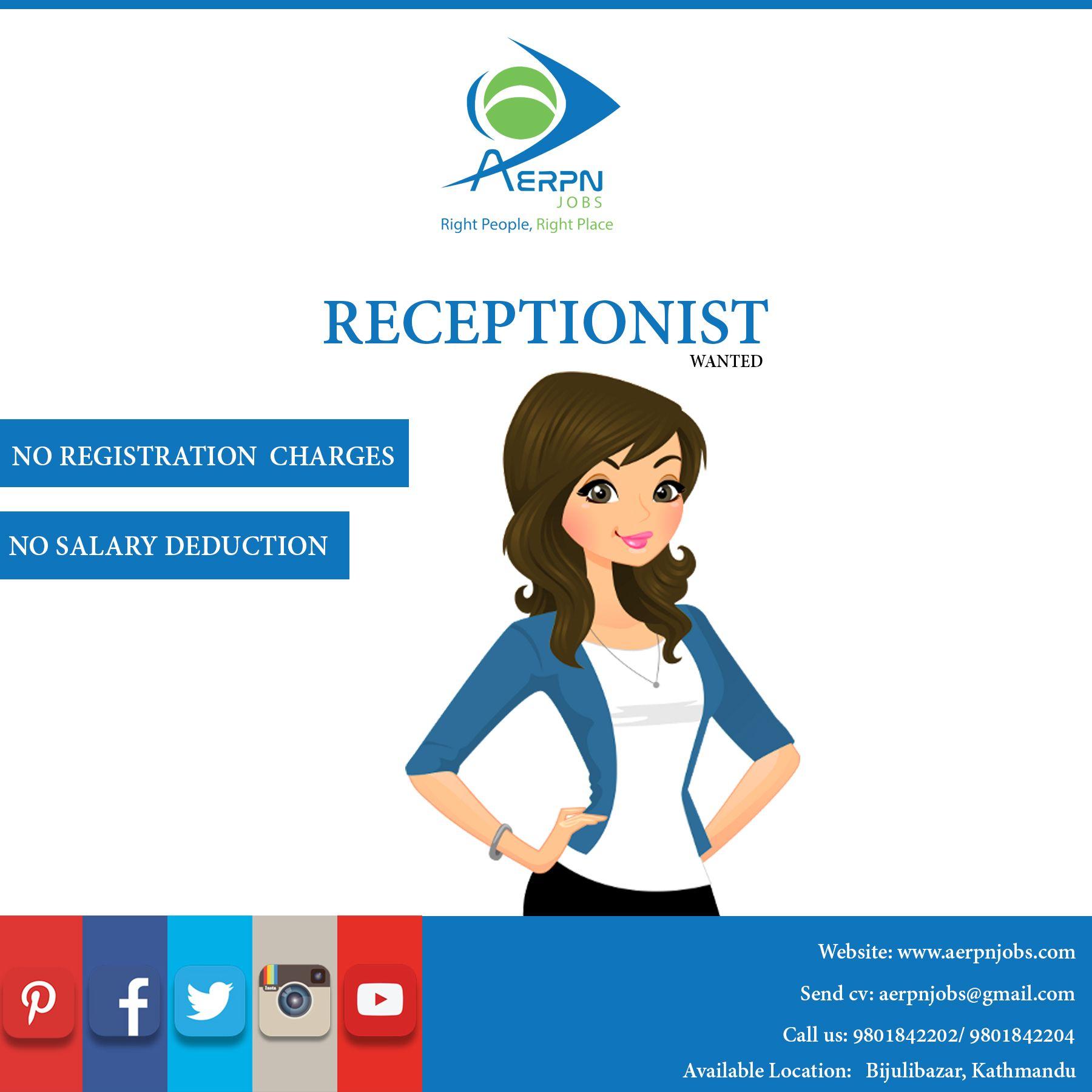 Receptionist Job Opening Good Communication Skills Job