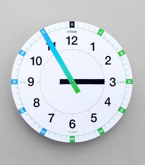 free tell the time printable clock classroom pinterest maths