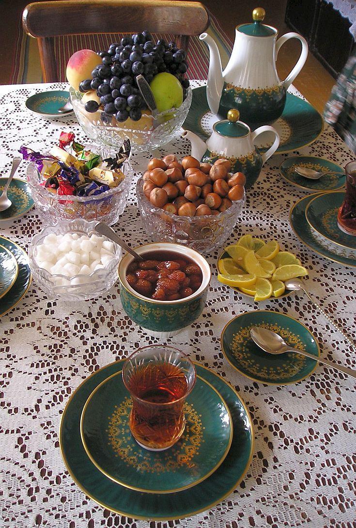 Chickens And Tea In Azerbaijan Turkish Tea Persian Food Azerbaijan