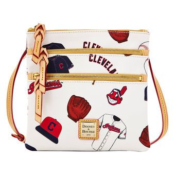 62aabba6b3 Cleveland Indians Dooney & Bourke Triple Zip Crossbody Purse ...
