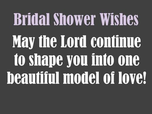 bridal shower card messages and wishes