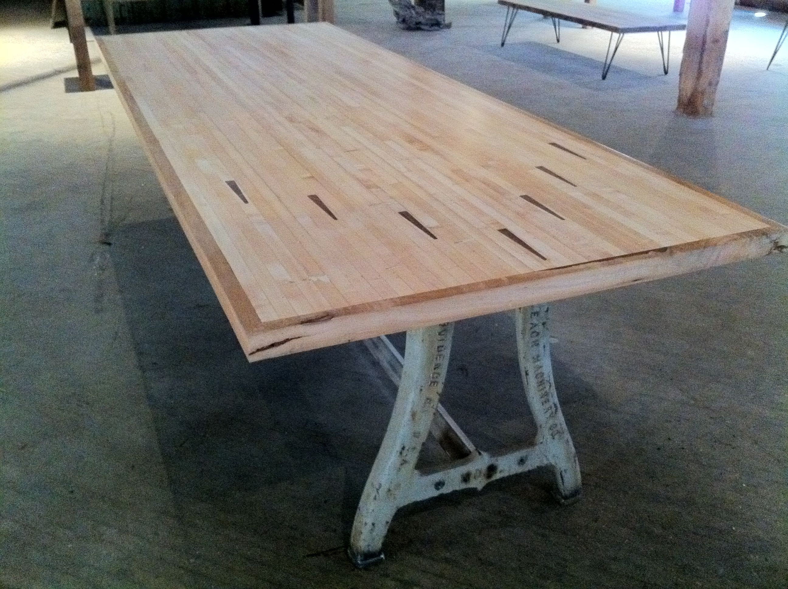 Love This Table Made From A Bowling Alleyu2026