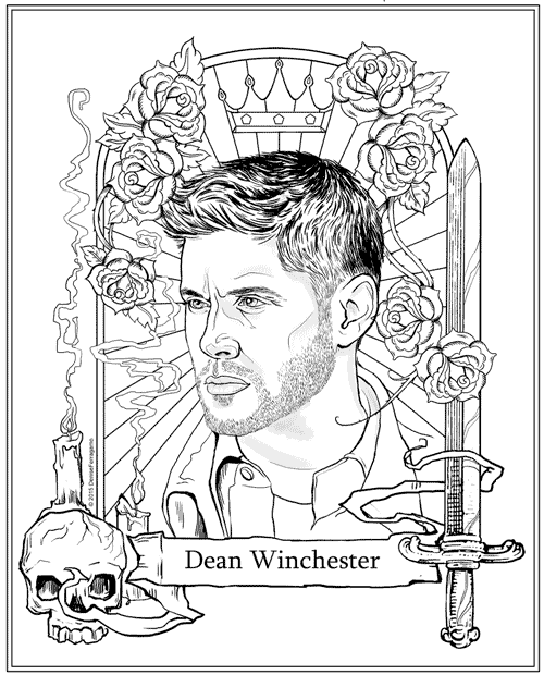 Free Dean Winchester Coloring Page