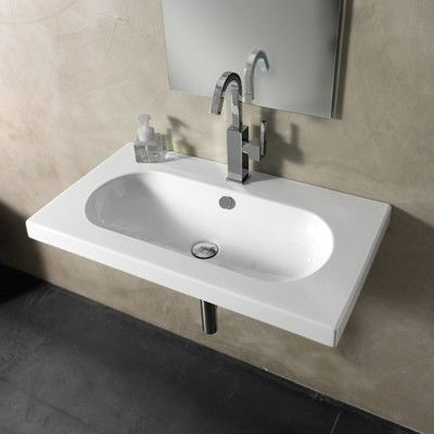 Edo Wide Ceramic 32 Wall Mount Bathroom Sink With Overflow Wall Mounted Bathroom Sinks Sink Bathroom Renovation Cost