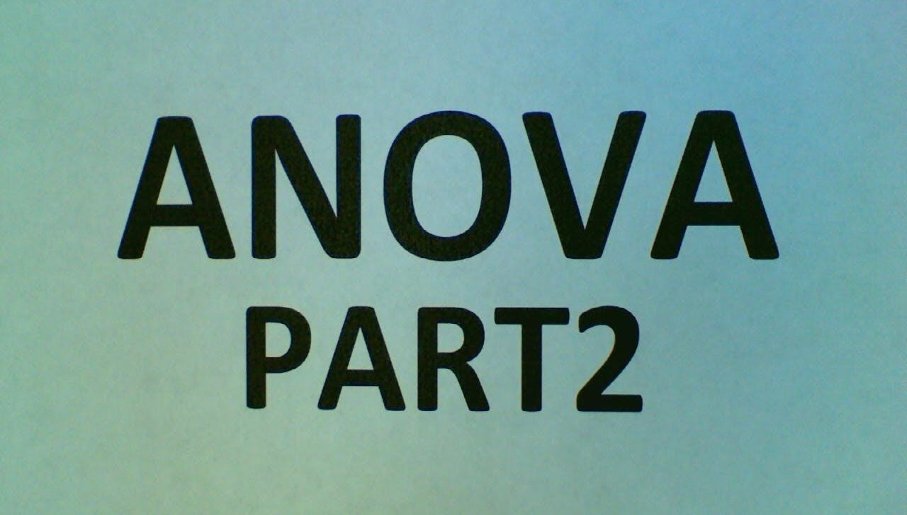 ANOVA Part 2 | NUMBING NUMBERS | Pinterest
