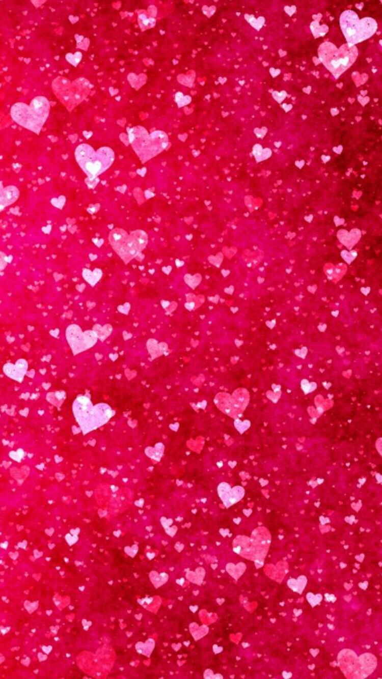 Red Hearts Valentines Wallpaper Iphone Valentines Wallpaper Pink Glitter Wallpaper