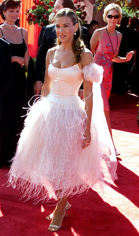 Pinned From Oscarpr Oscar De La A Dress Vestidos Love Fashion Pink Sarah Jessica Parker