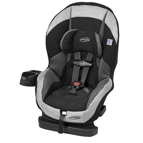 Evenflo Titan Elite Convertible Car Seat Pros Soft Comfortable Attached Cupholder Narrow Light Easy To Travel With Cons Big Recline In