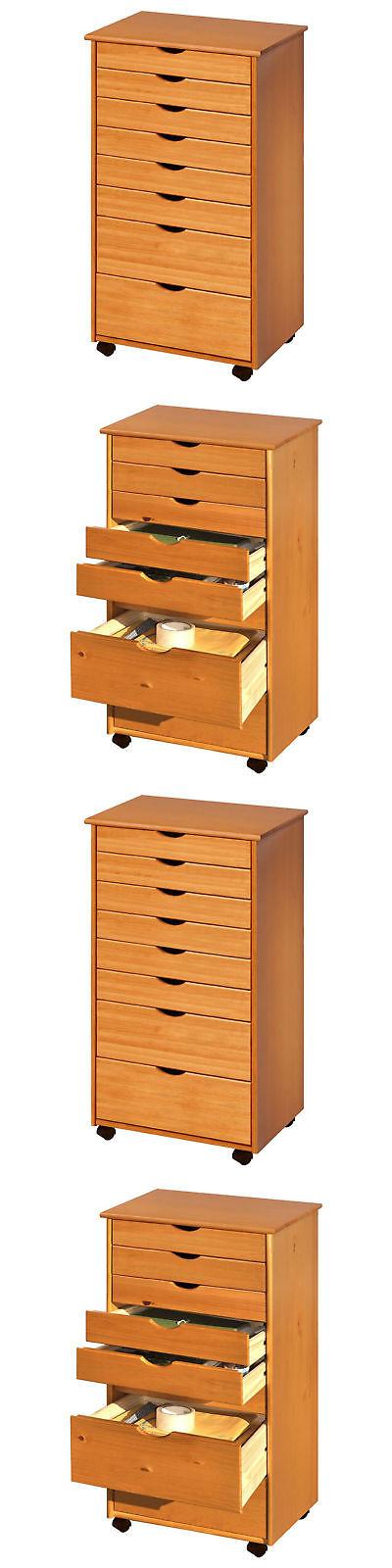Craft Carts 146400: Craft Storage Cart Scrapbook Rolling Sewing Organizer  Cabinet Wood 8 Drawer Home