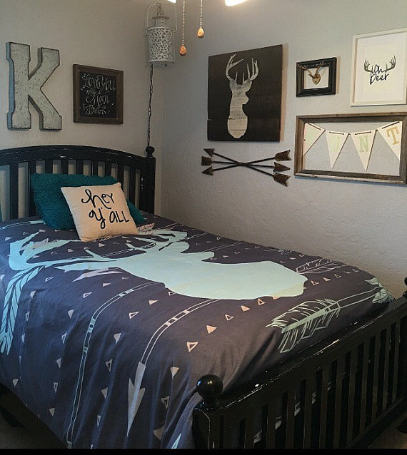 Deer Arrow Bedding For Kids Deer Arrow Duvet For Boys