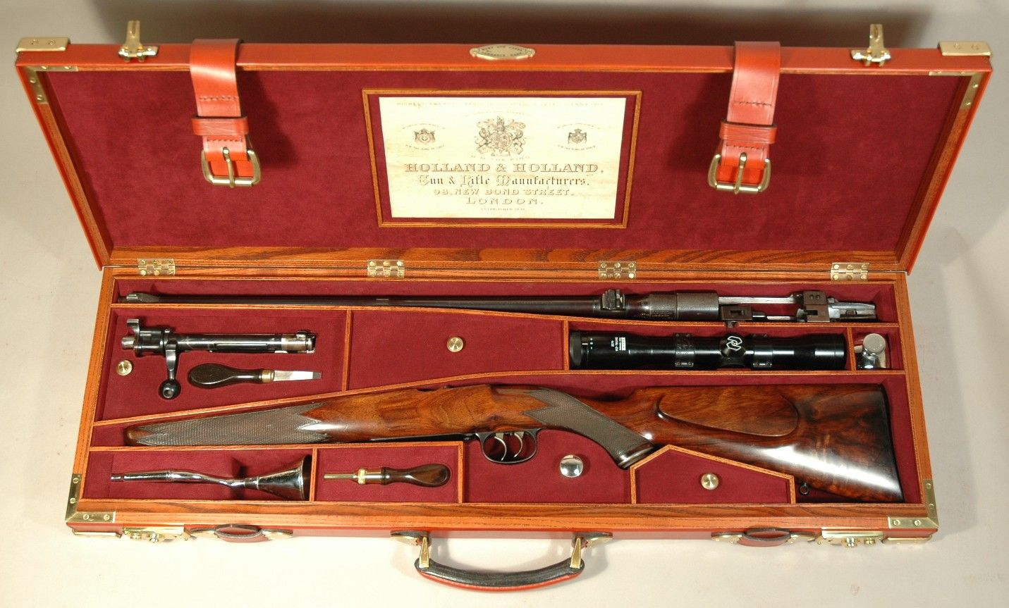 Hunting GUARDIAN CANTERBURY LEATHER MOTOR SINGLE SHOTGUN CASE