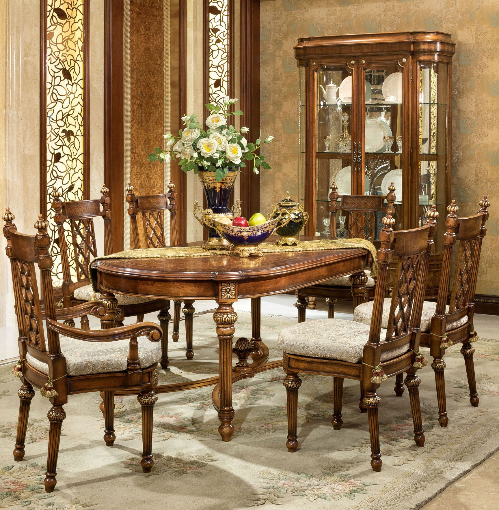 Oak Dining Room Sets With Hutch: Ascot Oval Dining Room Set