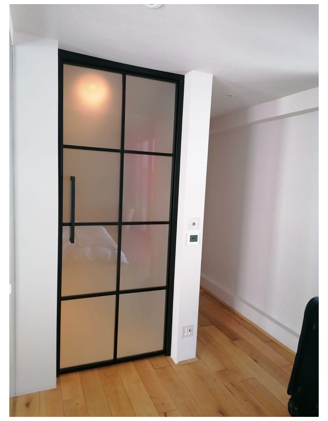 Metal Framed Door Aluminium Doors Interior Decor Black Glass Doors Privacy Glass In 2021 Glass Doors Interior Frosted Glass Interior Doors Internal Glass Doors Bedroom aluminum sliding door