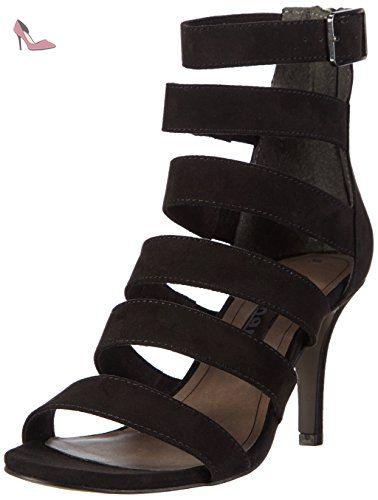 Tamaris  28315, Sandales Bout ouvert femme - Noir - Noir, 40 - Chaussures tamaris (*Partner-Link)