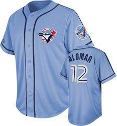 newest 60c95 9bad2 Roberto Alomar Toronto Blue Jays Coastal Blue Cooperstown ...