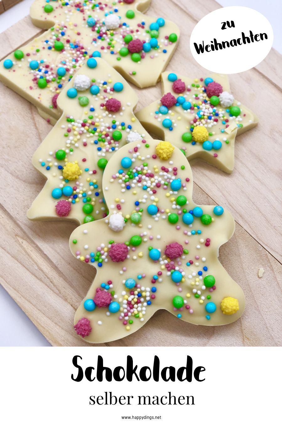 Schokolade selber machen und verzieren. Süße Weihnachtsgeschenke selber machen. Schokolade schmelzen im Thermomix oder Wasserbad. Mit diesem einfachen Thermomix Rezept gelingt Euch das Schokolade schmelzen ganz einfach. Schöne DIY Geschenk Idee für Weihnachten. #weihnachtsgeschenkkollegen