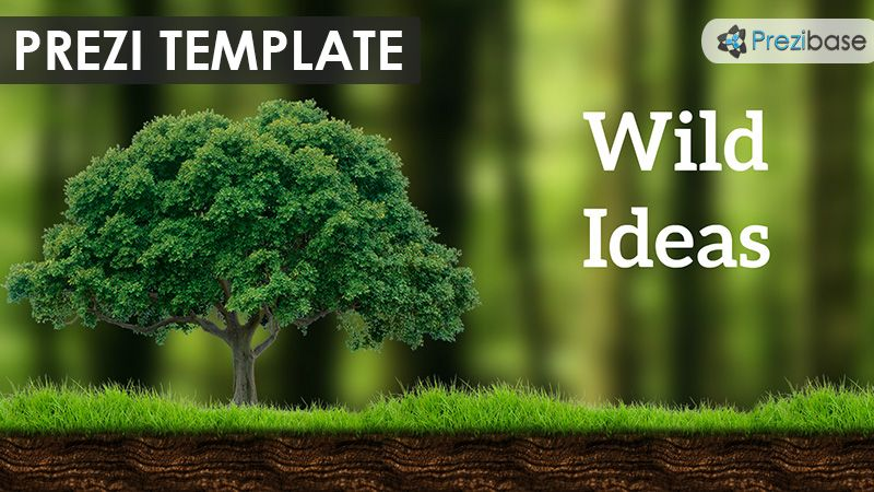 prezi template for presenting wild ideas various forest graphics on