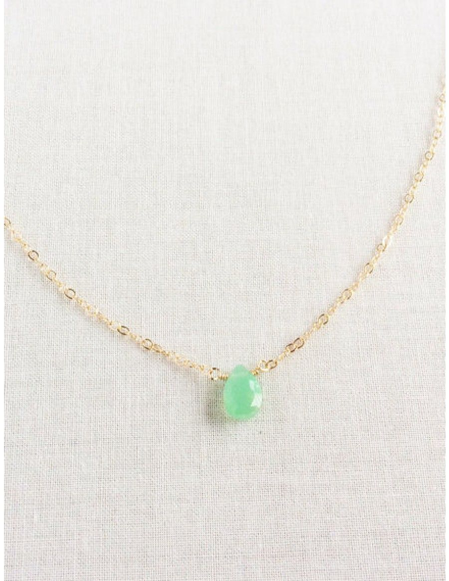 internationales amours en collier chrysoprase accueil necklace corfu
