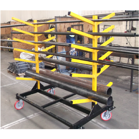 Bt70450 A Folding Mobile Pipe Rack Designed For Storage Of Pipes Sections