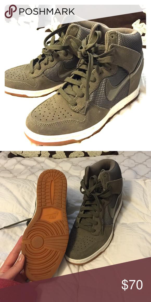 d8fed180902 Nike wedge sneakers Never worn olive green Nike wedge sneaker Nike Shoes  Sneakers