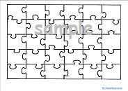 Printable Blank Jigsaw Puzzle Template Teacher Resources