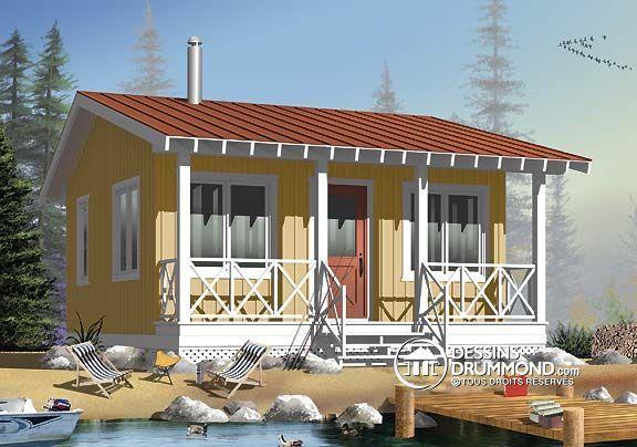 Détail du plan de Maison unifamiliale W1903 Chalet idée - idee de plan de maison