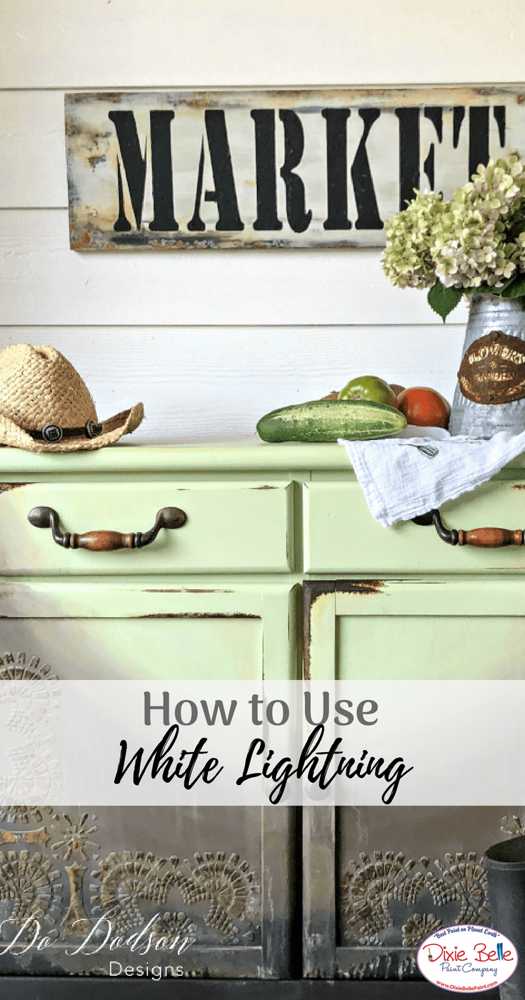 Learn How To Use White Lightning From Dixie Belle Paint Company Read More On Our Blog Now Dixiebellepaint Bestpaintonplanetearth Chalklife Homedecor
