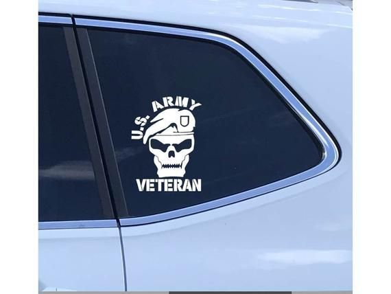 white Distressed National Guard flag vinyl decal cars boats sticker