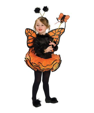 This Orange Butterfly Dress-Up Set - Toddler  Girls is perfect - cute childrens halloween costume ideas