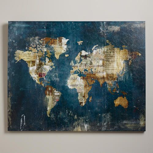 One of my favorite discoveries at worldmarket away we go by newsprint stamps and sheet music blend into the world map of zoey rileys away we go gumiabroncs Gallery