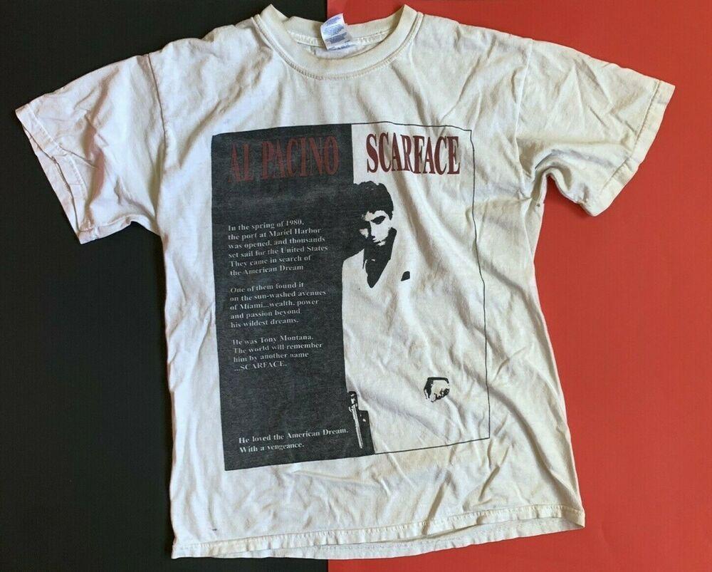 SCARFACE TONY MONTANA  T-Shirt  camiseta cotton officially licensed