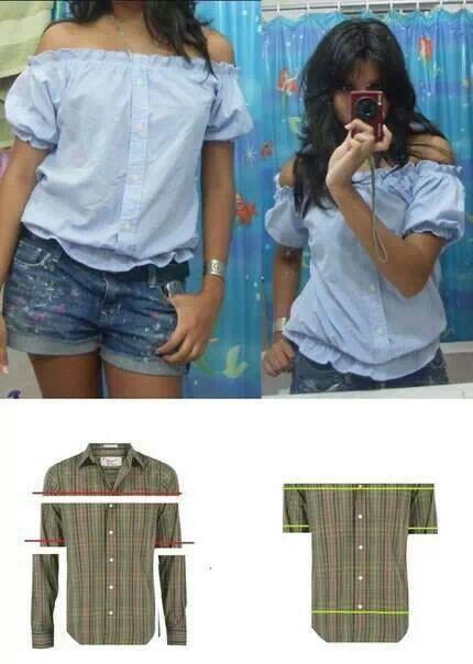 Recicla las camisas y dales un toque veraniego.