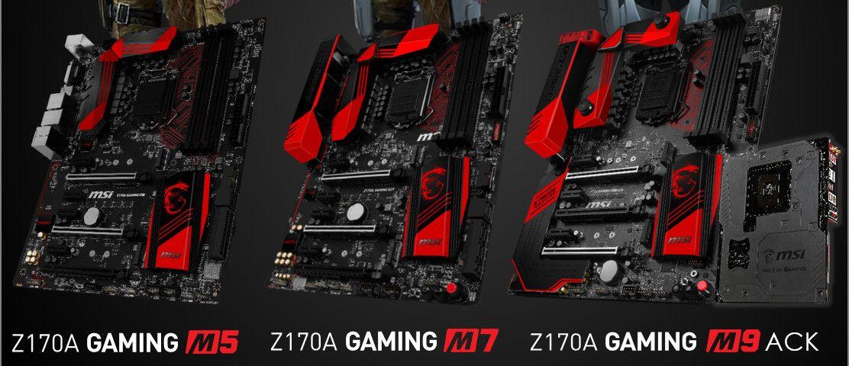 MSI prepara su serie de placas base Z170 Gaming M - http://hardware.tecnogaming.com/2015/07/msi-prepara-su-serie-de-placas-base-z170-gaming-m/