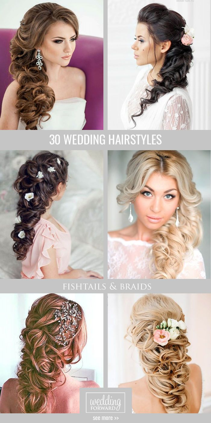 30 Most Romantic Bridal Updos & Wedding Hairstyles ❤ From high ...