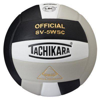 Tachikara SV-5WSC Sensi-Tec Composite Leather Volleyball Black/White/Silver - SV5WSC.BWSL