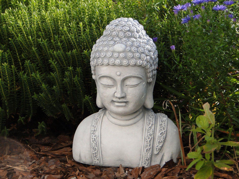 buste de bouddha en pierre de feng-shui moine en pierre de fonte