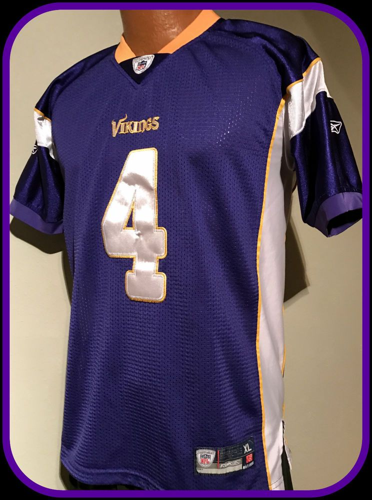 043a1ad7 MINNESOTA VIKINGS BRETT FAVRE STITCHED REEBOK ON FIELD JERSEY YOUTH ...