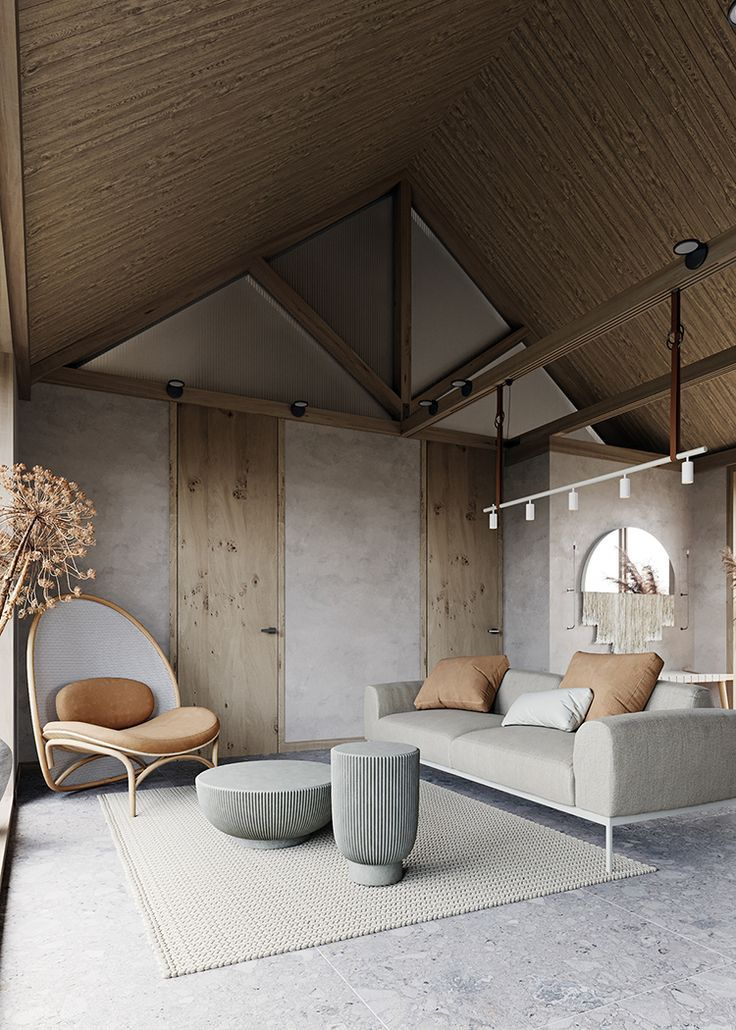 Contemporary small house with natural color palette and textures design by maria marinina also in rh pinterest