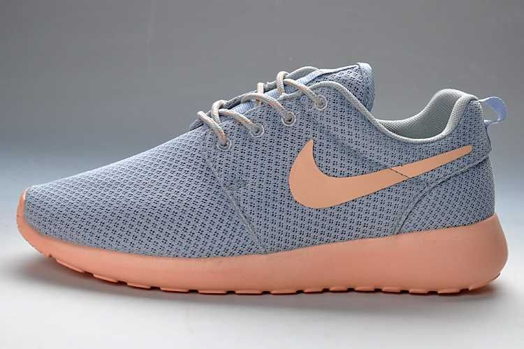 Purchase Nike Roshe Run Size Suede 2013 Womens Gray LightPink