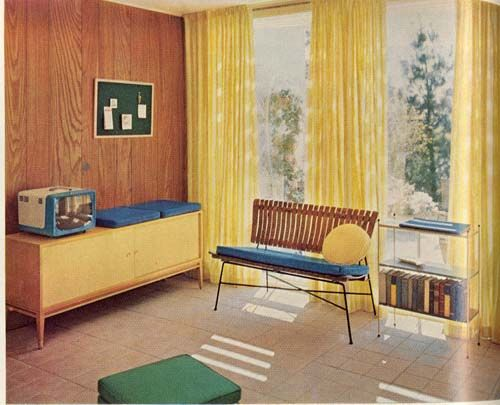 lhj3 1950s, Living rooms and Decoration