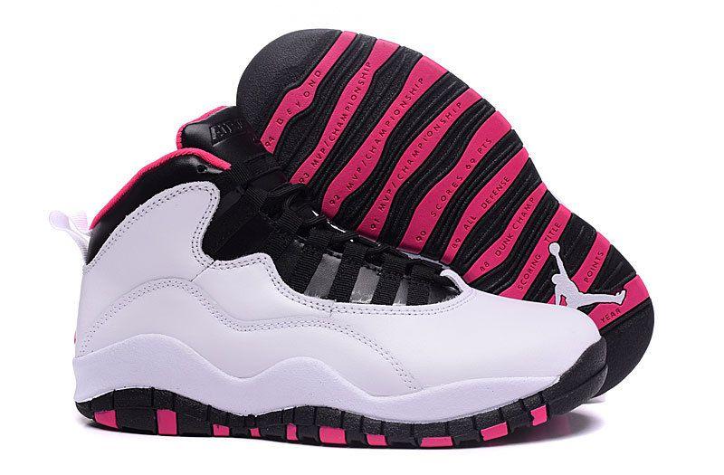 """Buy 2016 Air Jordan 10 GS """"Vivid Pink"""" Pure Platinum/Black-Vivid Pink Top  Deals from Reliable 2016 Air Jordan 10 GS """"Vivid Pink"""" Pure Platinum/Black- Vivid ..."""
