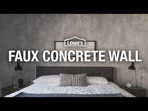 How To Make A Faux Concrete Wall Youtube Betonmuren Diy Huis