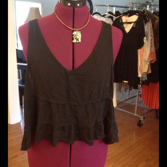 Intimately Free People tiered top Rayon distressed, perfect for lounging. Free People Tops
