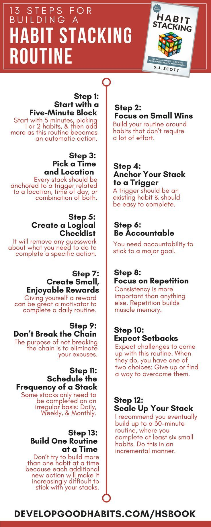 13 steps for building a habit stacking routine action learning 13 steps for building a habit stacking routine malvernweather Image collections