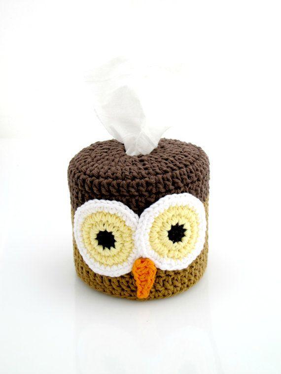 Crochet Owl Toilet Paper Roll Cover For The Home Pinterest