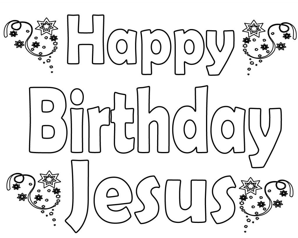 Happy Birthday Jesus Coloring Pages  Jesus coloring pages, Happy